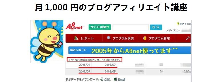 月1,000円のブログアフィリエイトサロン